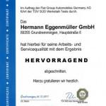 Urkunde Zertifikat 2011